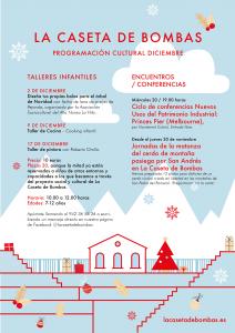 Programación cultural de diciembre en La Caseta de Bombas