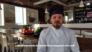 Raúl, el chef de los talleres infantiles