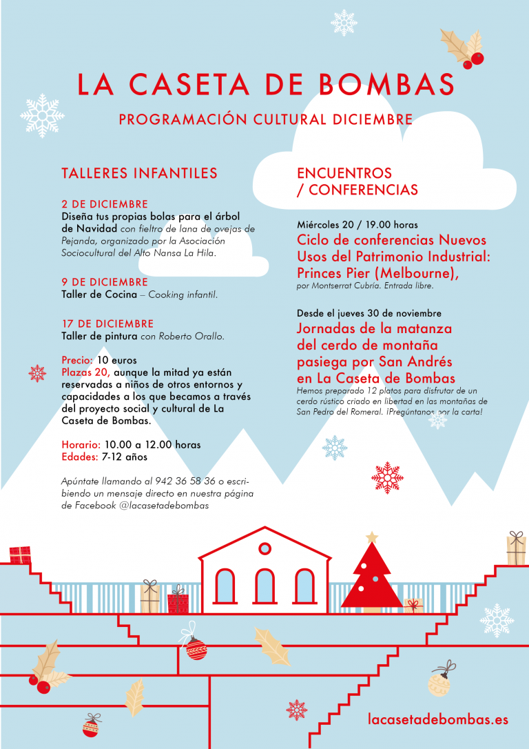 Lee más sobre el artículo Programación cultural de diciembre en La Caseta de Bombas