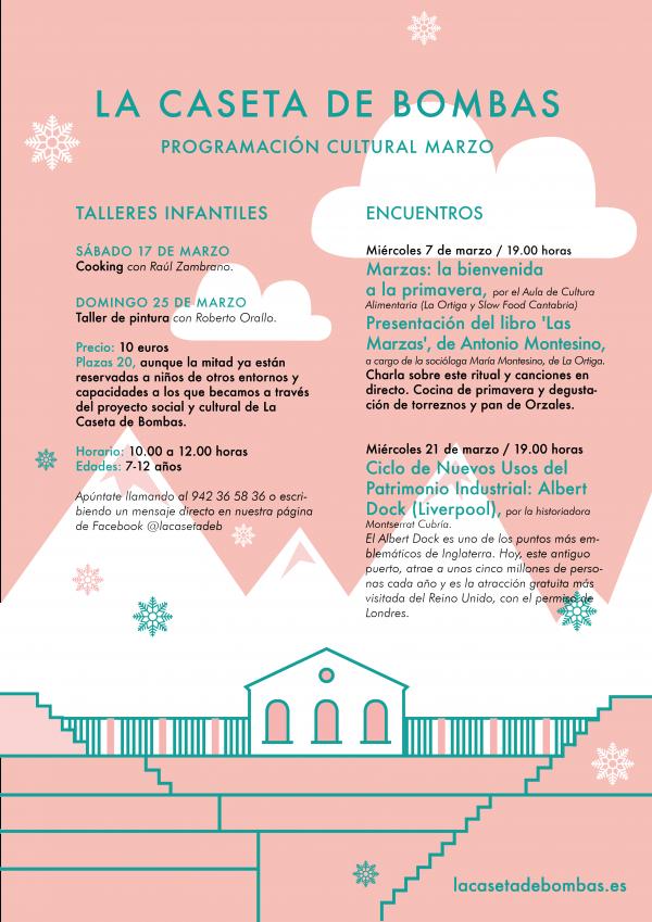Programación cultural de marzo en La Caseta de Bombas