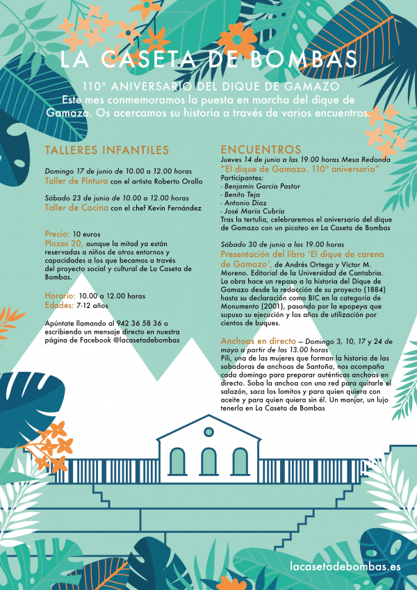 Programación cultural de Junio en La Caseta de Bombas
